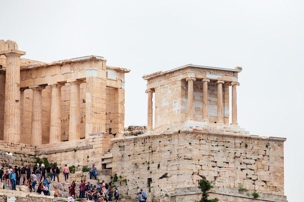 Parthenontempel in de akropolis in athene, centrum op athene, griekenland