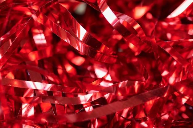 Partij rood klatergoud, vakantie achtergrond. geschenkdoos decoratieve vuller