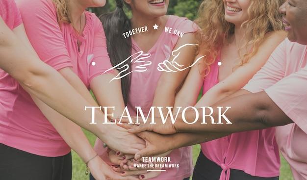 Partnerschap team ondersteuning saamhorigheid samenwerking handen grafisch