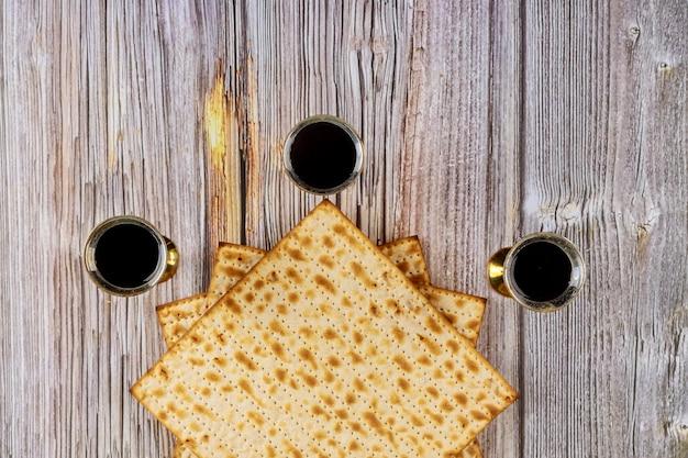 Pascha matzoh joods vakantiebrood en koosjere wijn