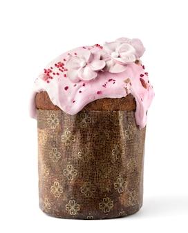 Pasen-cake op een witte achtergrond