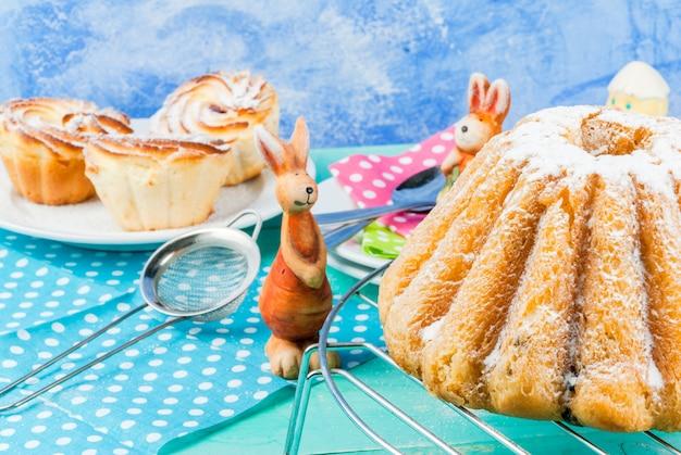 Pasen-cakes en konijntjes