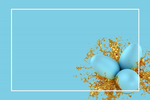 Pasen-het malplaatje van de groetkaart of 3d illustratie van de reclamekaart