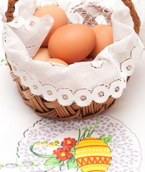 Pasen-mand met eieren