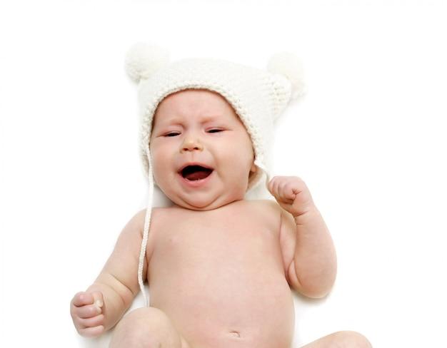 Pasgeboren baby huilen