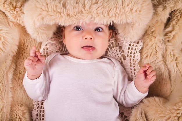 Pasgeboren babyblauw