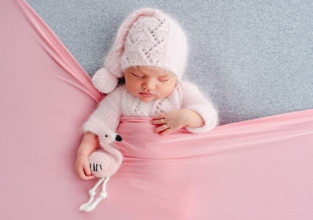 Pasgeboren meisje fotoshoot