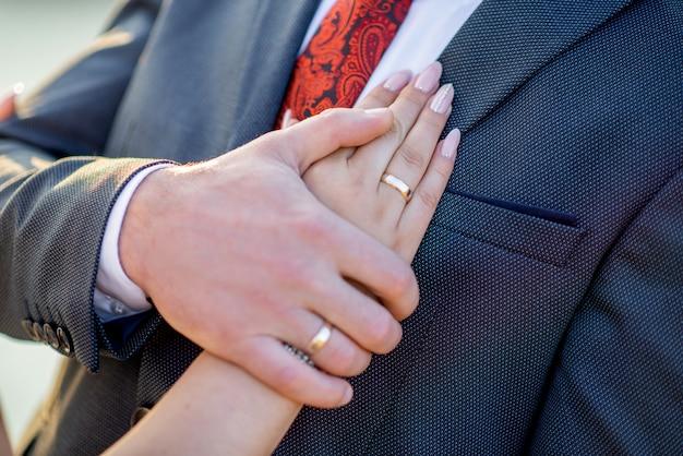 Pasgetrouwden ring bruiloft
