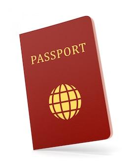 Paspoort op wit wordt geïsoleerd dat
