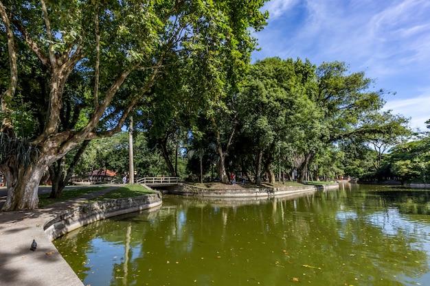 Passeio publico park. curitiba, staat parana - brazilië