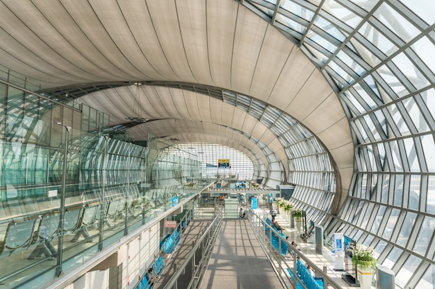 Passenger building of suvarnabhumi airport is een van de twee internationale luchthavens