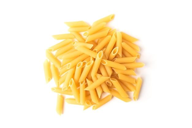 Pasta geïsoleerd op een witte achtergrond