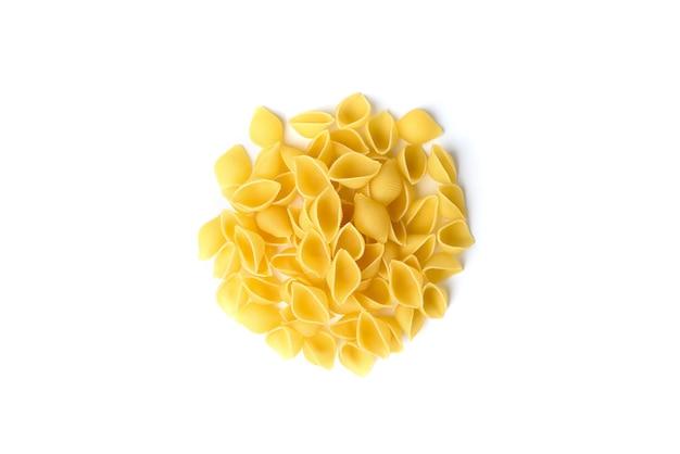 Pasta geïsoleerd op een witte ondergrond