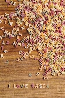 Pasta letters met i love pasta quote