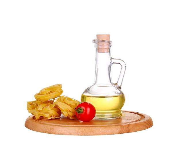Pasta met olijfolie en tomaten