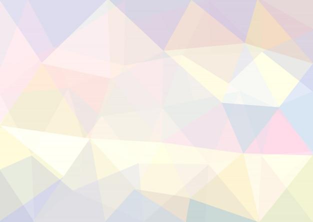 Pastel achtergrond met geometrische vormen