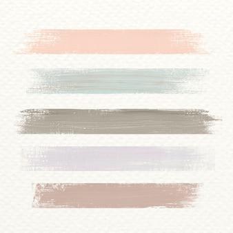 Pastel acryl penseelstreek
