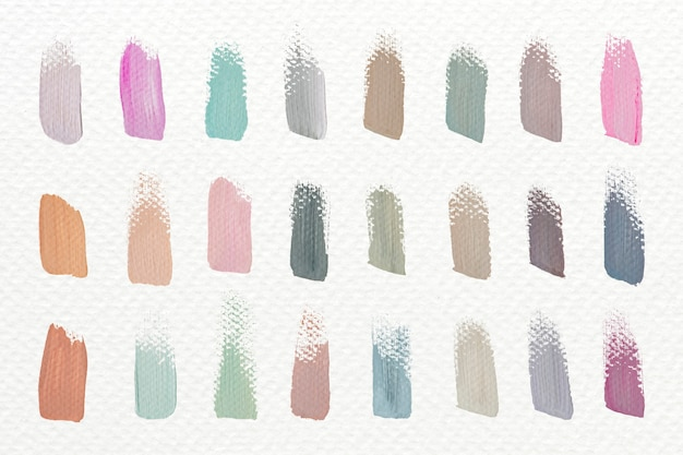 Pastel acryl penseelstreken