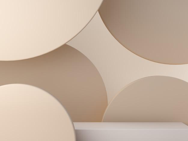 Pastel crème vormen op abstracte achtergrond