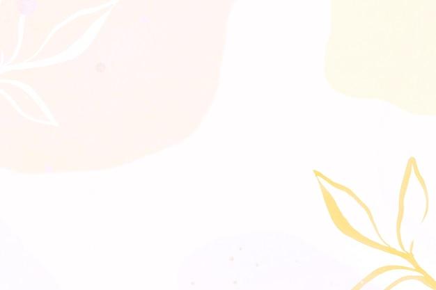 Pastel memphis bladeren patroon achtergrond