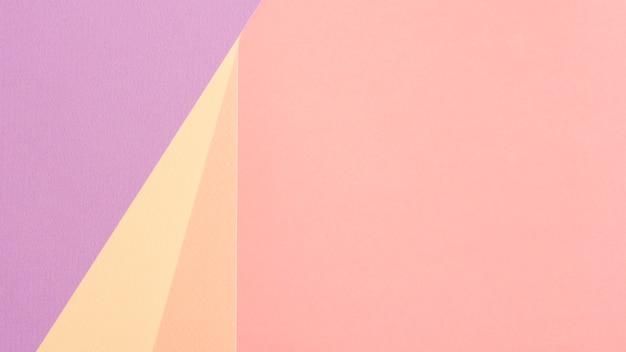 Pastel set kartonnen vellen met kopie ruimte