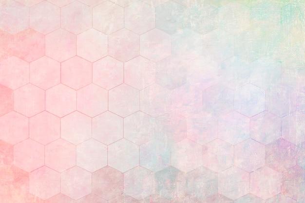Pastel zeshoek patroon achtergrond afbeelding
