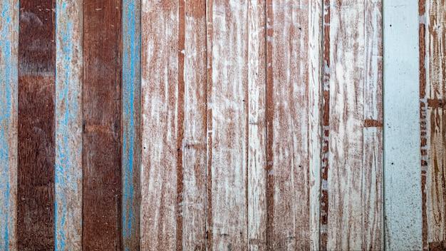 Pastelkleur houten houten wit blauw met de muurachtergrond van de planktextuur