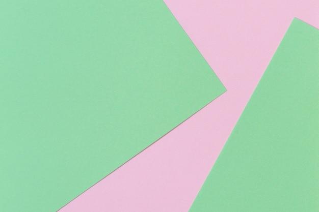 Pastelkleur papier achtergrond roze en groene kleur lay-out samenstelling