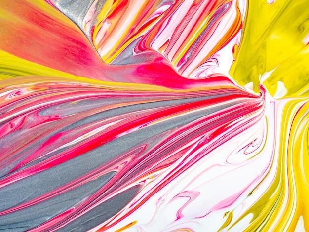 Pastelkleurige snoepcrèmetextuur met roze en gele kleuren