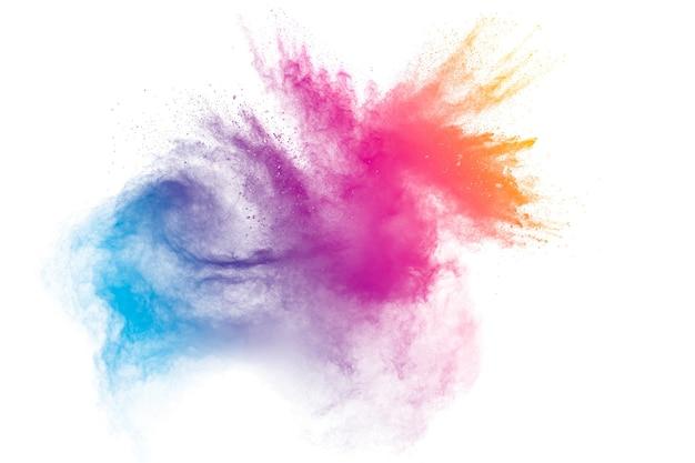 Pastelkleurige stofdeeltjes spatten