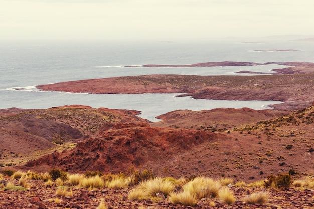 Patagonische atlantische kust in argentinië