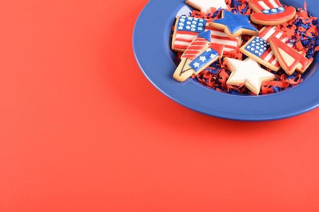 Patriottische cookies voor 4 juli