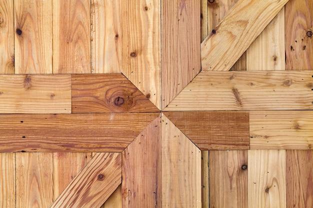 Patronen en texturen van houten muren voor de achtergrond.