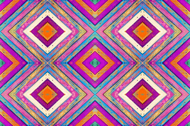 Patroon collage van gekleurde houten planken met oude verf. textuur achtergrond