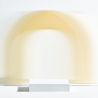 Patroon glas product achtergrond met standaard