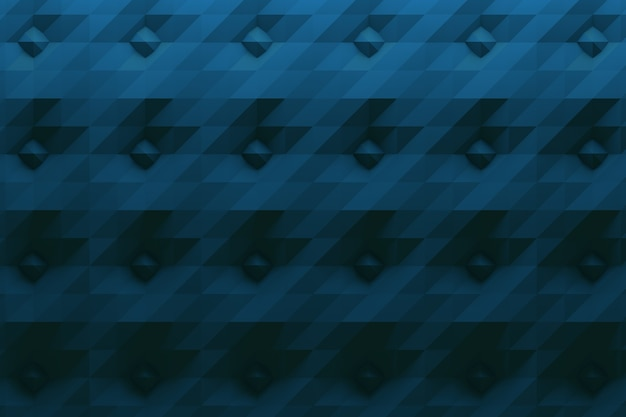 Patroon in donkerblauwe kleur met spikes en gevouwen oppervlak