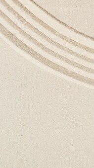 Patroon in japanse zen-tuin met concentrische cirkels op zand voor meditatie en rust