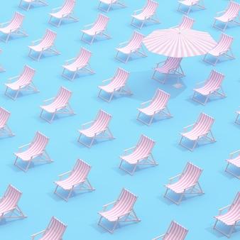 Patroon met buitenstoelen en enkele paraplu