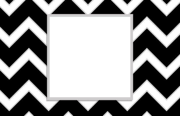 Patroon met wit vierkant op zwarte achtergrond