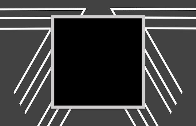 Patroon met zwart vierkant op grijze achtergrond