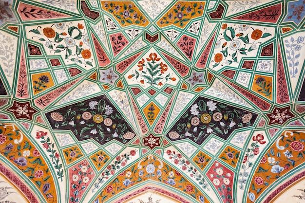 Patroon op het paleis, jaipur