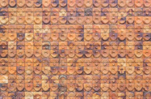 Patroon van aardewerktegel