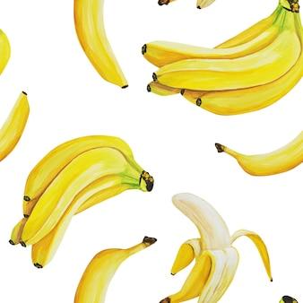 Patroon van aquarel bananen.