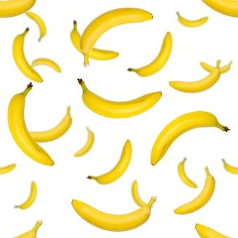 Patroon van bananen op de witte achtergrond