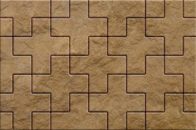 Patroon van bruine stoep straatstenen