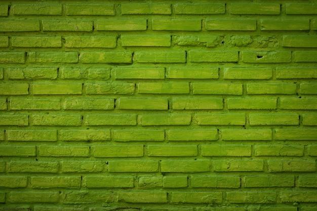 Patroon van groene bakstenen muur voor achtergrond