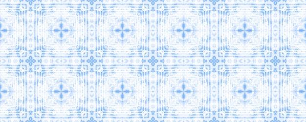 Patroon van het denim het witte blauwe damast