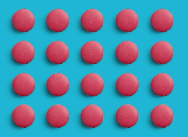 Patroon van kleurrijke franse koekjes macarons