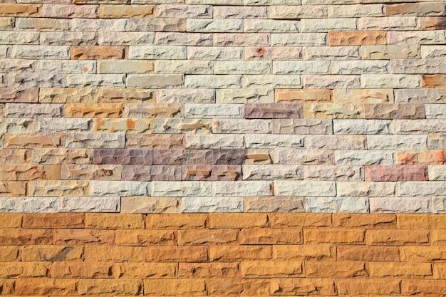 Patroon van kleurrijke moderne bakstenen muur textuur.