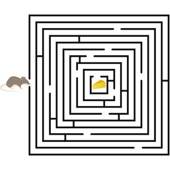 Patroon van ronde ontwerpelementen labyrint op achtergrond